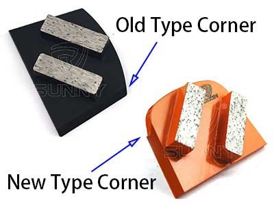 What's the difference between old and new types of Lavina metal bonded concrete grinding disc?