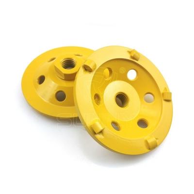 5 Quarter Round PCD Diamond Cup Wheel For Epoxy Removal