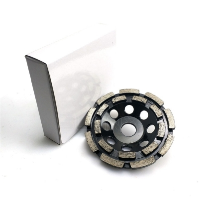 5 Inch Double Row Diamond Cup Wheel For Angle Grinder