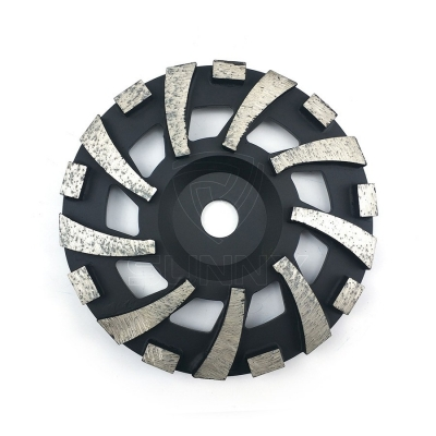 7 Inch Flat Diamond Grinding Cup Wheel For Grinding Concrete