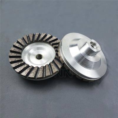 4 Inch Turbo Diamond Cup Wheel With Aluminum Wheel Body