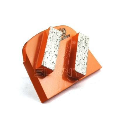 2 Segment Bars China Lavina Diamond Grinding Shoes For Lavina Concrete Floor Grinder