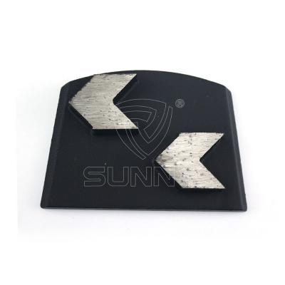 Matt Black Arrow Segments Lavina Diamond Floor Grinding Disc Manufacturer In China