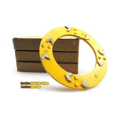240mm China Arrow PCD Klindex Diamond Concrete Grinding Disc With Pins