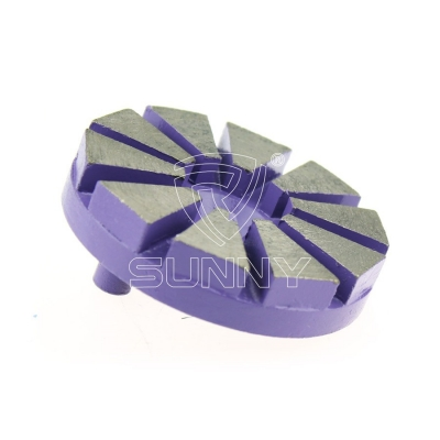 10 Segments Single Pin Lock Diamond Grinding Disc For Prep Master Grinding Machine