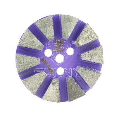 Metal bond diamond grinding disc with velcro quick change