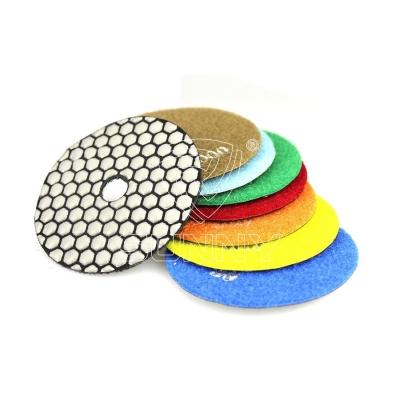 100mm Flexible Resin Polishing Pads For Concrete Granite Marble Dry Polishing