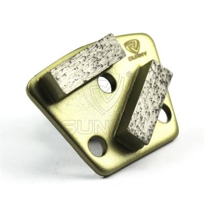 China Trapezoid Metal Bond Diamond Grinding Blades For Concrete Floor