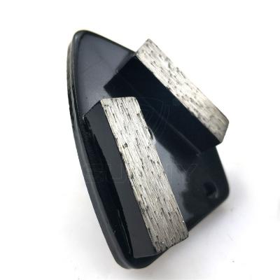 China Trapezoid Diamond Grinding Plates For Terrazzo Concrete Floor