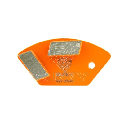 2 Segments Trapezoid Diamond Grinding Shoes For Grinding Concrete