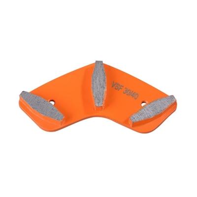 Abrasive Boomerang Type Diamond Grinding Tool For Efficient Concrete Grinding