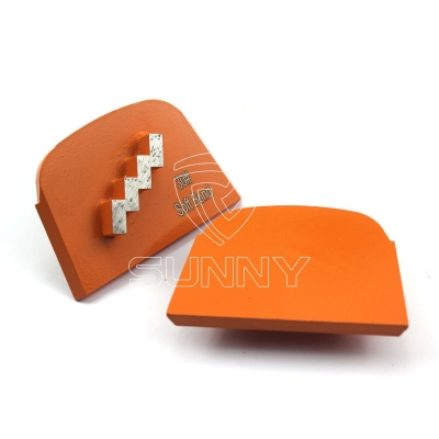 Premium 1 Wave Segment Lavina Concrete Grinding Shoes For Abrasive Grinding
