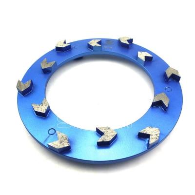 240mm Arrow Segments Concrete Grinding Disc For Klindex Concrete Floor Grinder