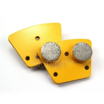 2 Round Segments Trapezoid Diamond Grinding Disc For Concrete Floor