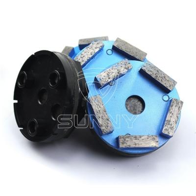 4 inch 100mm 5 Segment Metal Bond Klindex Concrete Grinding Disc With 3 Pins