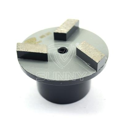 3 Segments Metal Bonded Diamond Grinding Plug For Terrco Floorex Floor Grinders