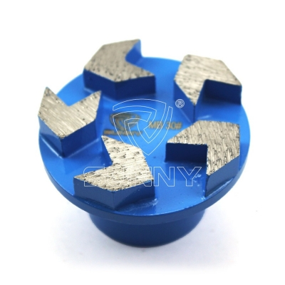 5 Arrow Segments Diamond Grinding Plugs With 50mm Round Morse Tapered Shank Connection