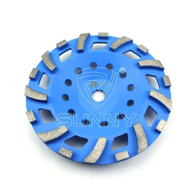 Sunny Metal Bond Segmented Diamond Grinding Cup Wheel For Grinding The Concrete