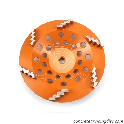 China Metal Bonded Stair Type Diamond Cup Wheel For Aggressive Grinding The Concrete Terrazzo Cement