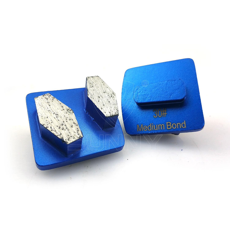 2 Round Segments HTC Diamond Grinding Blades For Concrete Floor Grinding