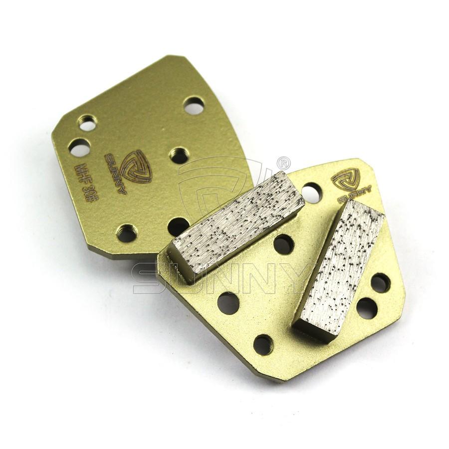 2 Segment Bars China Lavina Diamond Grinding Shoes For Lavina Concrete Floor GrinderMetal Bond Lavina Diamond Floor Grinding Shoes For Grinding Concrete Terrazzo