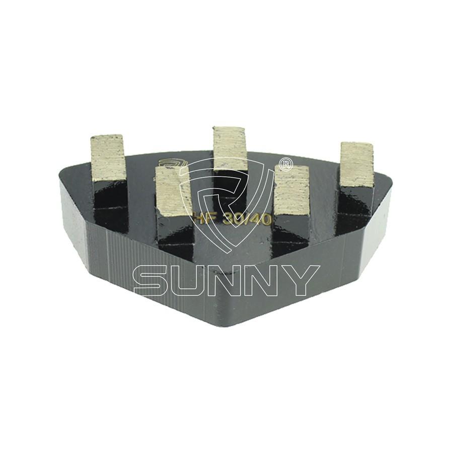 China 50mm Terrco Floorex Diamond Grinding Plugs For Grinding Terrazzo Concrete Floor