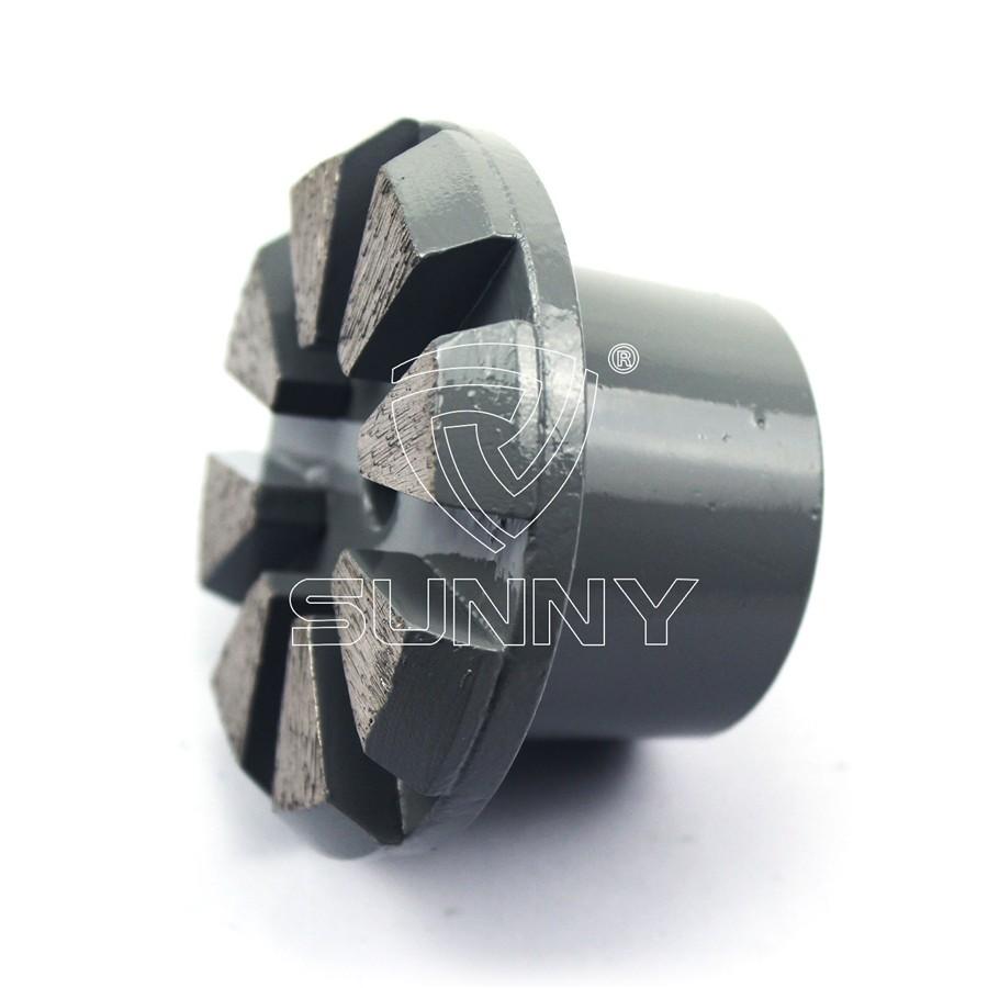 China Diamond Grinding Plug Wheel For Grinding Concrete