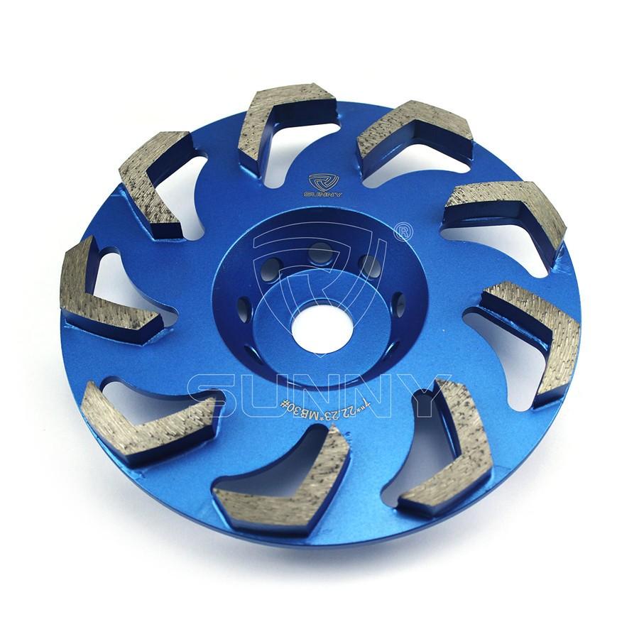 7 Inch Boomerang Segment Diamond Cup Wheel For Grinding Concrete