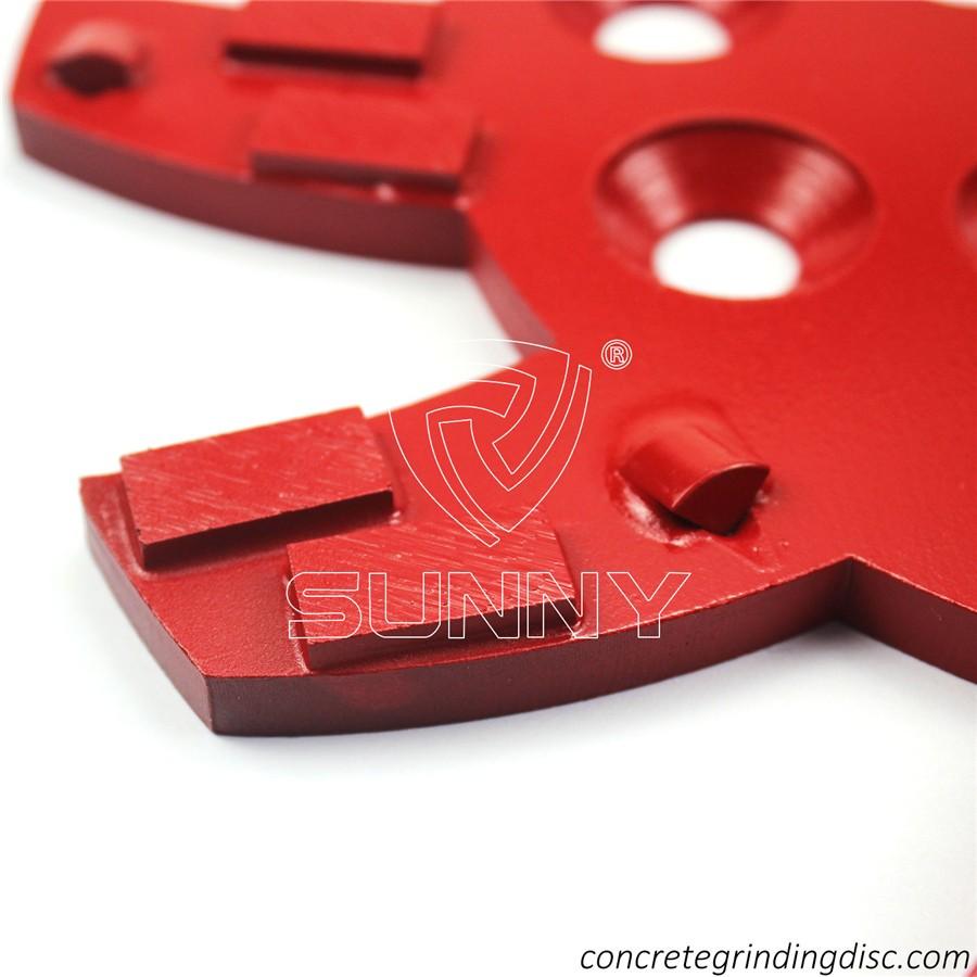 China 10inch 250mm Diamond PCD Grinding Disc For Blastrac Edco Grinding Machine