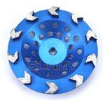 arrow type diamond cup wheel