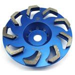 boomerang type diamond cup wheel