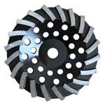 turbo type diamond cup wheel