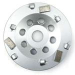 1/4 PCD + segment bar diamond cup wheel