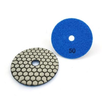 7 Step Resin Bonded Diamond Polishing Pads For Dry Use