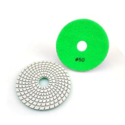 Premium 7 Steps Resin Bonded Polishing Pads For Wet Polishing